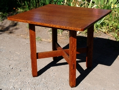 Stickley Brothers square breakfast or card table.