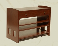 Voorhees Craftsman Workshops Custom Limbert Inspired Server or TV Stand with Cutout Design