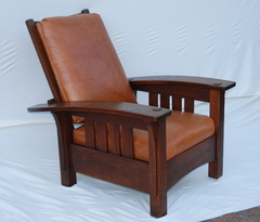 Original  Rare L & J G Stickley Bow Arm Morris Chair