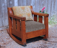 Large Lifetime Rocking Chair, signed by paper label