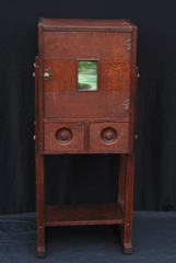 Arts and  Crafts Liquor or Smokers cabinet. Original finish. Shop of the Crafters style. Stickley era.
