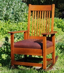 Stickley Brothers Spindle Rocker   Signed