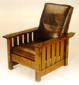 Slatted Reclining Morris Chair