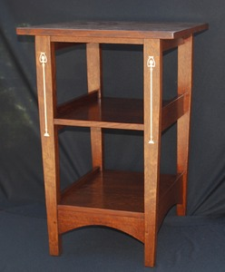 Gustav Stickley Harvey Ellis inspired Custom Arts and Crafts Inlayed nightstand.