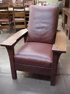 L. & J. G. Stickley Paddle-Arm Morris Chair
