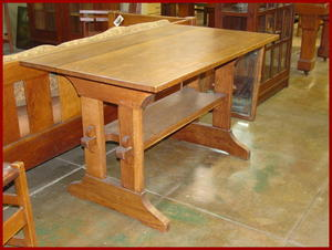 Gustav Stickley Trestle Table