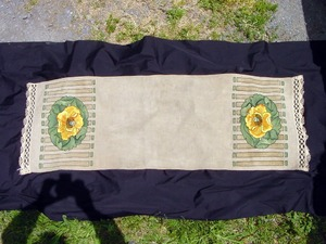 Vintage Arts and Crafts Table Runner