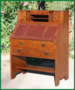 Rare Original L.&J.G. Stickley Drop Front Desk circa 1906-1912