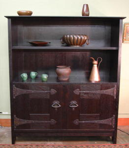 Interpretation Early Gustav Stickley 1902 Cupboard design.