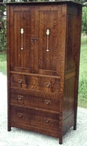...(ITEM RETIRED)...Custom Stickley Ellis inspired Inlaid Entertainment Center