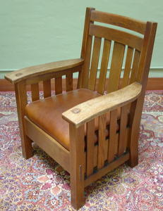 Large Harden Co. Wavy Arm Chair