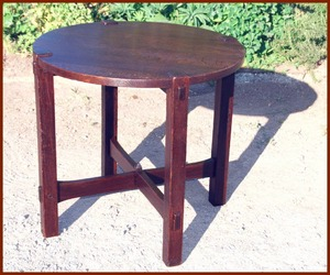 Gustav Stickley rare early lamp table circa 1901