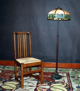 Rare Charles Limbert Yellowstone Park spindle chair, Stickley era.