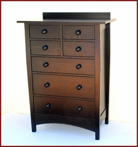 Gustav Stickley Harvey Ellis Style Custom Highboy Dresser