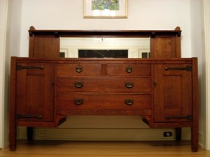 Stickley Brothers 70 inch strap hinge sideboard