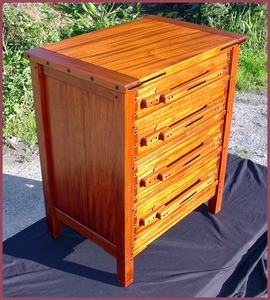 Greene and Greene Style Nightstand Matching Custom Dresser 844GGC