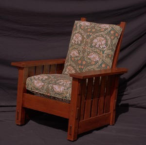 Original Vintage Gustav Stickley Signed Morris Chair model 332