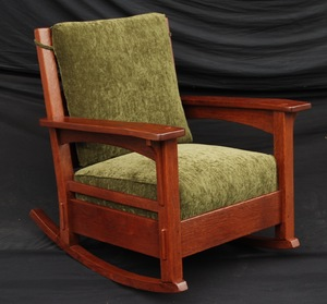 Large Rare Charles Stickley Rocker, signed.