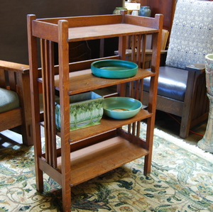 Stickley Brothers spindle magazine or book stand
