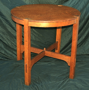 Original Vintage Gustav Stickley Lamp Table