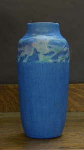 Newcomb Pottery Vase  Sadie Irving incised signature and paper label