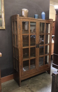 Gustav Stickley China Cabinet Model number 815 original finish signed