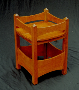 Vintage Arts and Crafts plant stand. Signed L Kreiss and Sons San Francisco. Stickley era.